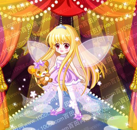 包含部件 简约公主小银冠,公主粉色蝴蝶结,公主金色直长发,可爱公主