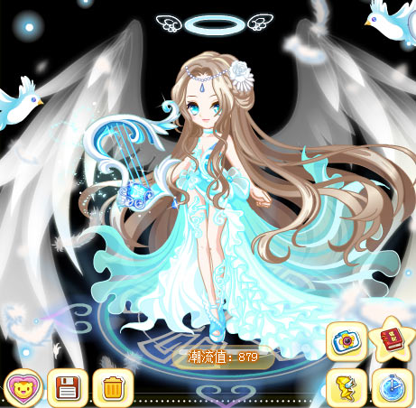 奥比岛光明女神魔法时装秀