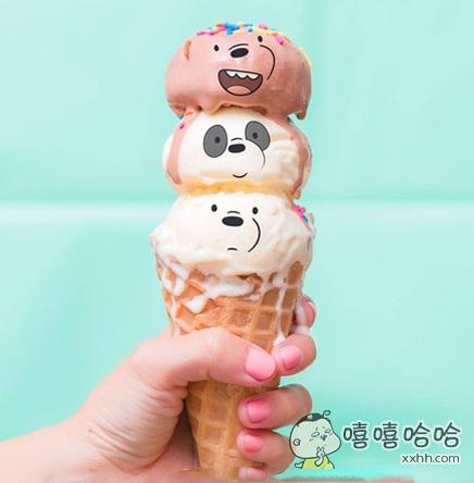 冰淇淋太可爱,怎么舍得吃!