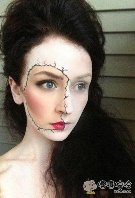 好奇特的化妆术,有创意