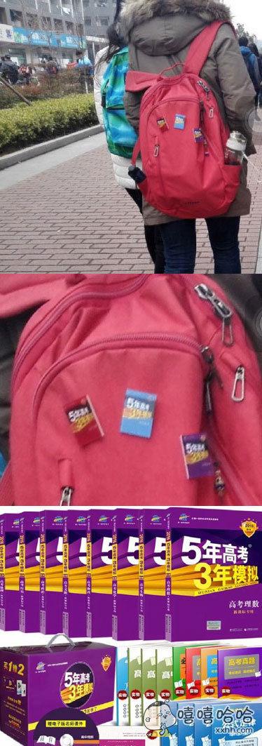 今天在校园里遇到一个同学,我觉得她书包上的徽章……好酷……