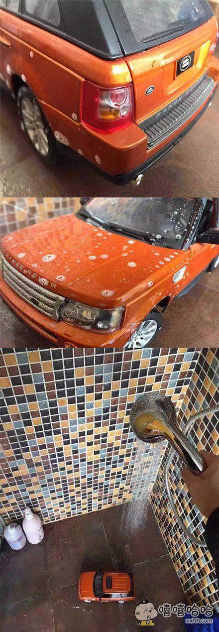 自己洗车真累啊,洗了快俩小时。
