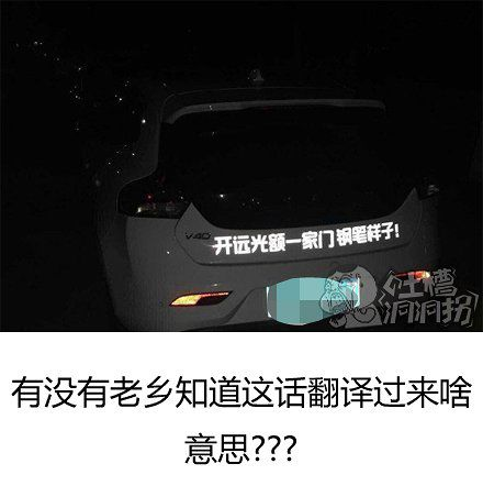 是后面那辆车干的?