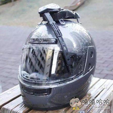 头盔雨刮器,早就该有这东西了啊