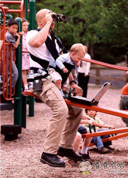 老爸带孩子的日常