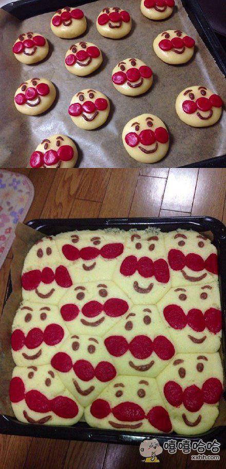 岛国一妹子做了一锅面包超人蛋糕,出锅后这效果……