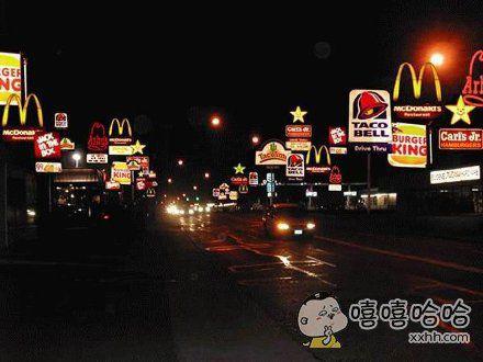 米国美食一条街
