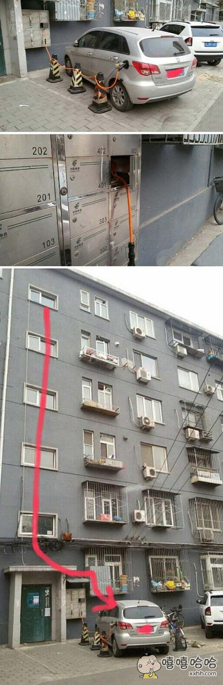 家住六楼,怎样给自己的特斯拉充电?