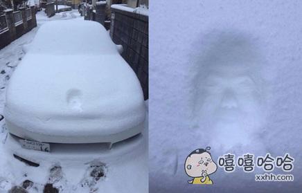 一哥们打算冒雪开车出门。。。Excuse me??