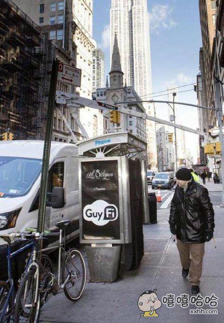 纽约的街上出现了撸亭