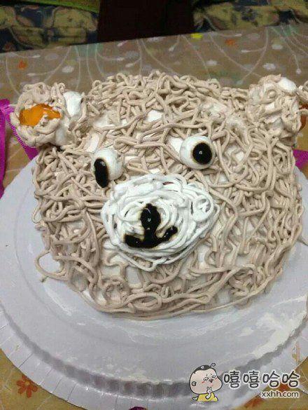 之前买的轻松熊蛋糕!我的内心是崩溃滴!自行感受一下吧!