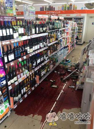 红酒惨状,隔着屏幕都醉了。