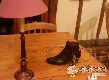 这样就不怕皮鞋被偷走了