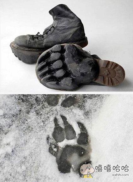 俄罗斯一男子在家门口雪地上发现了熊掌印迹。吓得立马报警,经过了三天的侦查,警察发现那是他的鞋印。。。。