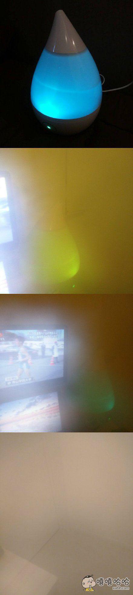 网友展示了她新买的一款加湿器。。。使用后效果拔赞!
