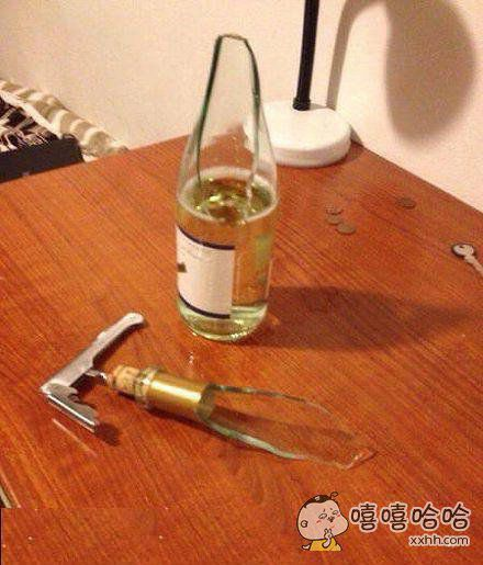 我就是想开个瓶盖用不着这样吧。