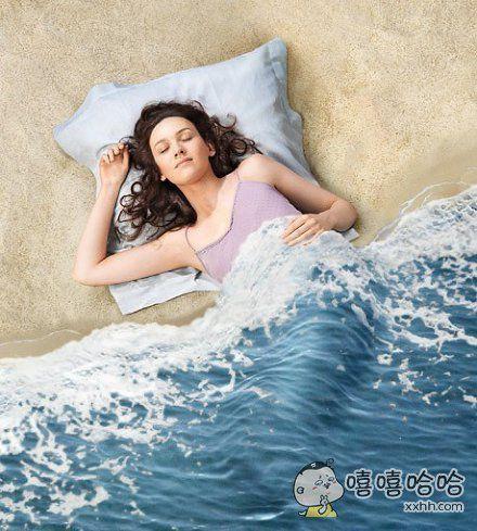 沙滩、海浪…………被单被套!