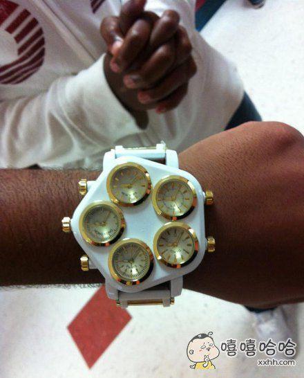 我在非洲买的手表,霸气吧!