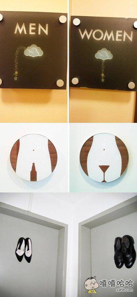 那些机智的厕所标志