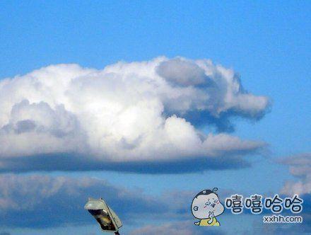 你看天上那朵云,像不像一条狗