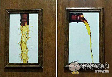 酒吧里的厕所标示图片