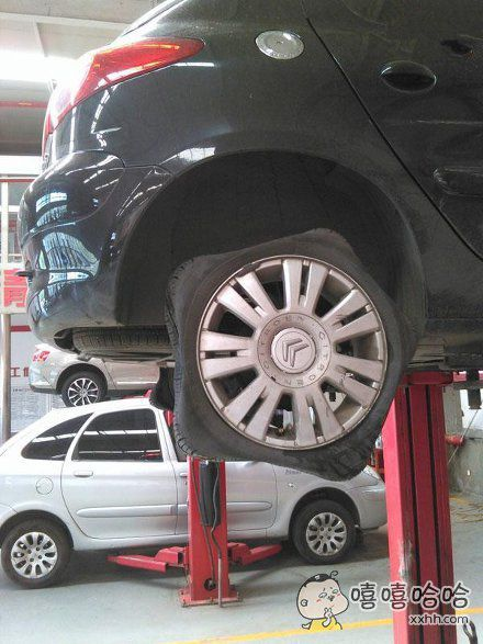逗我呢,这样式的轮子怎么开?