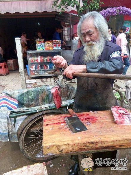 仙风道骨的卖鱼人