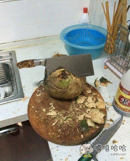 被椰子打败的菜刀