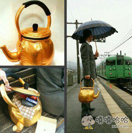 一位日本网友手作的旅行包,回头率很高的样子