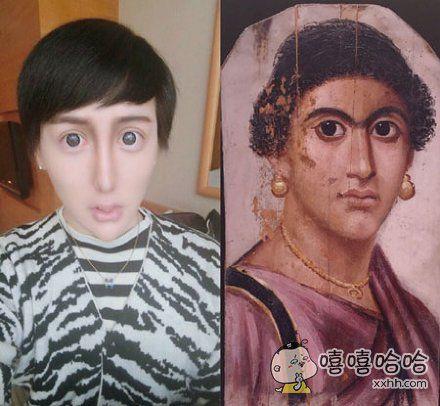 在大英博物馆看见这张图,我终于相信刘梓晨是所谓混血儿,混古罗马的吧