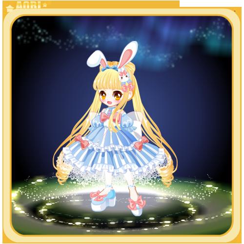 奥比岛可爱萌兔套装