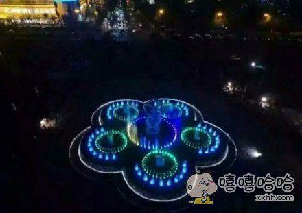 武林广场音乐喷泉…简直就是一个大写的被打开的煤气灶啊…