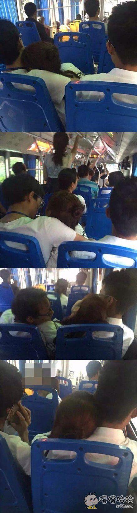 公交车上看到的,excuse me ???