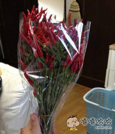 男票说要送我一束热辣辣的花