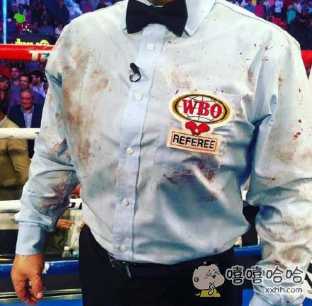 一场拳击比赛过后裁判的衬衫