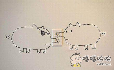 猪,你的鼻子有两个孔