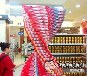 超市大妈的逆天神作!