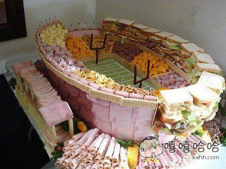 食物做成的体育馆