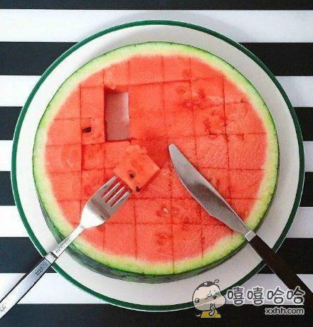 听说今年流行这样儿吃西瓜!