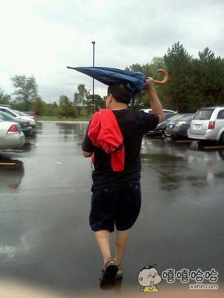 冒雨送伞~