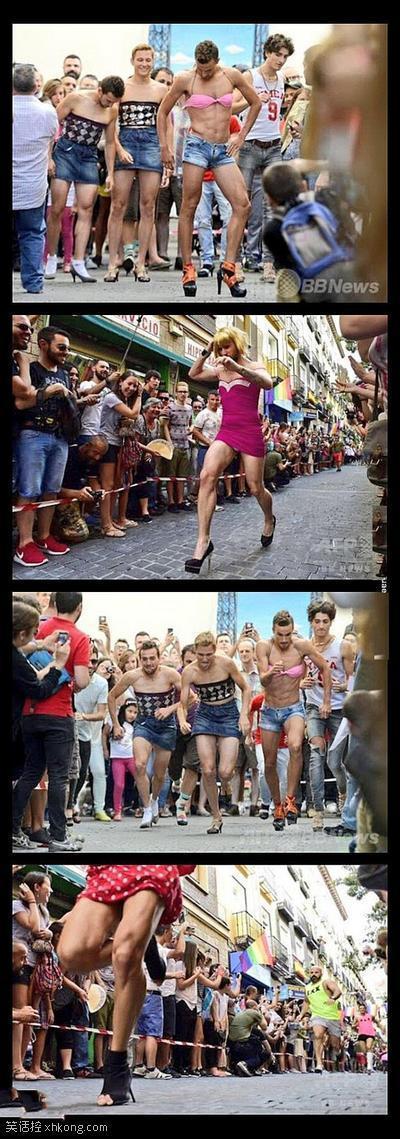 西班牙男子高跟鞋长跑大赛