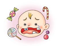 一妹纸跟我说,她小时候吃牙,把糖吃坏了……