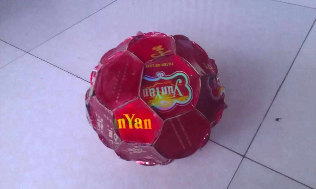 红地球   (我自己手工制作的  仿足球  12个正五面体  20个正六面体)