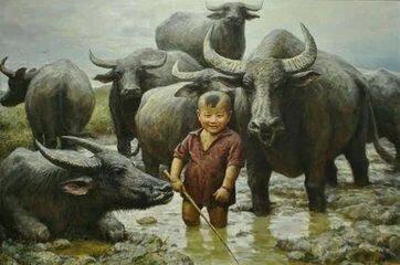 很小就看着牛,长大后比牛叉更牛