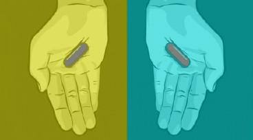 撕逼问题来了~这两颗药丸分别是什么颜色?