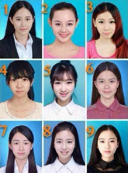 网上某贴谈男女审美差异,男的普遍觉得9最美然后是8,女的会选1或者5,你说呢?