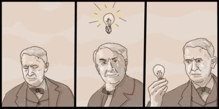 论爱迪生是如何发明灯泡的......