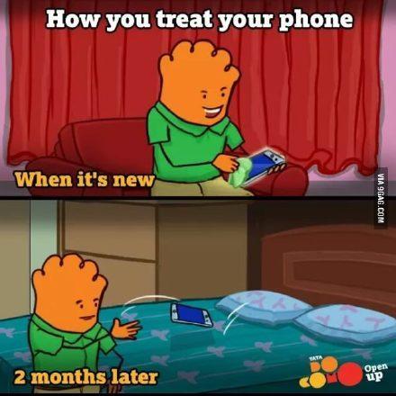 刚买了新手机的你和两个月以后的你