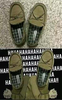 买了一双鞋子,看着有点别扭。