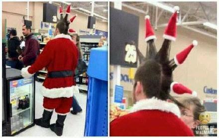 朋克青年当起圣诞老人来,那也是相当朋克!